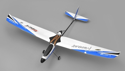 Tech One Hobby Mercury Trainer 4-Channel RC Airplane Kit with Motor (Blue)
