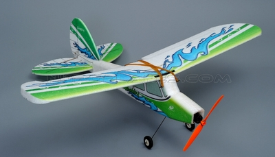 Tech One RC 4 Channel Fun fly EPP ARF Version (Green) Plane kit + T2208 Motor + 18A ESC + 8g Servo + GWS 8040 propeller