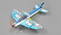 Tech One RC 4 Channel Mini Apollo Depron RC Airplane Kit Version