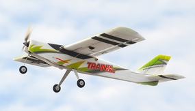 Tech One Trainer King 4 Channel Almost Ready to Fly Airplane RC Remote Control Radio