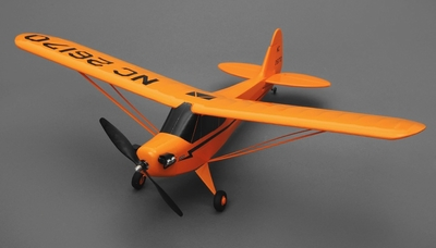 Tex RC J3 Cub 3 Channel Airplane Ready to Fly 2.4ghz Wingspan 700mm RC Remote Control Radio
