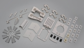 The fuselage plastic parts 60P-DHC2-09-PlasticParts