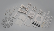 The fuselage plastic parts