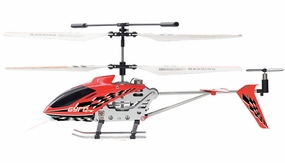 The Gyro Star S107 3 Channel Mini Indoor Co-Axial Metal RC Helicopter w/ Built in Gyroscope (Red)