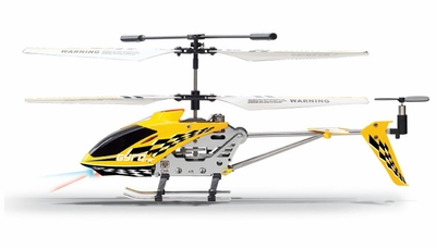 The Gyro Star S107 3 Channel Mini Indoor Co-Axial Metal RC Helicopter w/ Built in Gyroscope (Yellow) RC Remote Control Radio