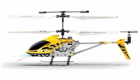The Gyro Star S107 3 Channel Mini Indoor Co-Axial Metal RC Helicopter w/ Built in Gyroscope (Yellow)
