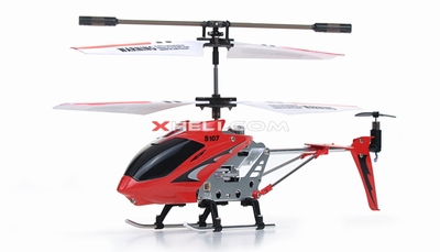 The New Syma 3 Channel S107 Mini Indoor Co-Axial Metal RC Helicopter & Built-in Gyroscope (Red)