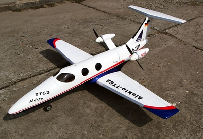TT-62 Alekto Electric Twin-Engine Fiberglass RC Airplane Kit (#90A230)