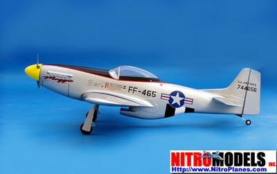 "U.S. Army P-51D Mustang 50 - 53"" Nitro Gas ARF RC Radio Remote Controlled CMPro Plane"