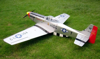 "U.S. P-51D Mustang 60~90 - 55.7"" Nitro Gas ARF RC Radio Remote Controlled Plaen w/ Retract!!!"