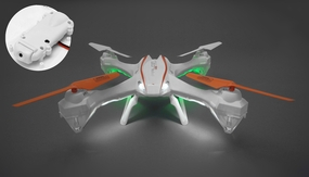 UDI RC U842 Falcon Quadcopter HD Camera 6 Axis Gyro Flipping 2.4ghz Ready to Fly  w/ 4G Memory Card (White)