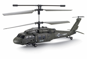 UDI UH-60 Black Hawk 3 Channel Infrared RC Helicopter RTF w/  Built in Gyro RC Remote Control Radio
