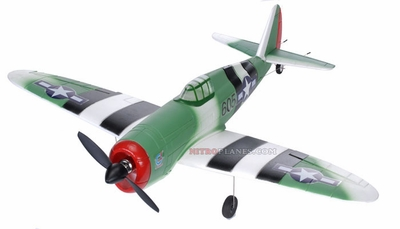 Upgraded Brushless P-47 Thunderbolt 4-Channel Radio Remote Control RC Scale Plane RTF (Green)