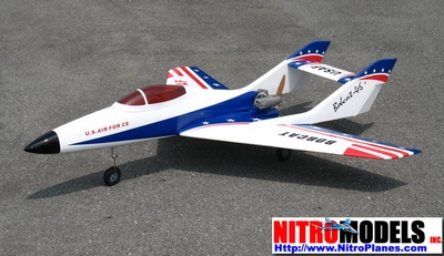 "USAF Bobcat Jet 50 - 51"" Nitro Gas Radio Remote Controlled RC Airplane +Retracts Ready"