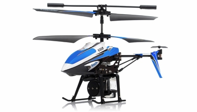 V319 3.5 Channel Water Spraying RC Helicopter RTF with Built in Gyro (Blue)
