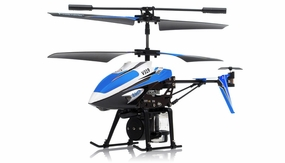 V319 3.5 Channel Water Spraying RC Helicopter RTF with Built in Gyro (Blue) RC Remote Control Radio