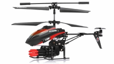 V398 3.5 Channel Missile Shooting RC Helicopter RTF with Six Missiles rapid fire (Red)
