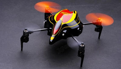 Walkera InfraRed RC 4 Channel Quadcopter Ready to Fly w/ Devo 4 2.4Ghz (Red) RC Remote Control Radio