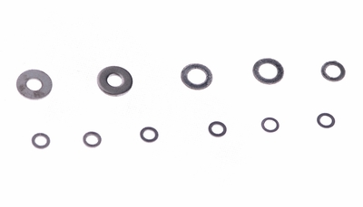 Washer  ?2.6*4.5*0.3mm*1   ?2.1*4*0.5mm*2        ?2.1*3.5*0.3mm*2 ?1.6*3*0.3mm*6 60P-ERZ1-043