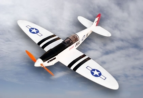 White Electric Spitfire 4-Channel ARF Brushless Radio Remote Controlled RC Warbird