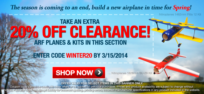 Winter Sale Extra 20% Off All Clearance Items!