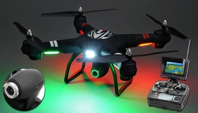 WL Toys Q303A Spaceship 5.8ghz FPV Video Monitor Quadcopter Drone with 2MP HD Camera 4 CH 6 Axis Gyro Headless Hover Mode 2.4ghz Ready to Fly