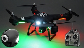 WL Toys Q303C Spaceship Quadcopter Drone Single Axis Gimbal 2MP HD Camera 4CH 6 Axis Gyro Headless Hover Mode 2.4ghz Ready to Fly 8GB SD Card