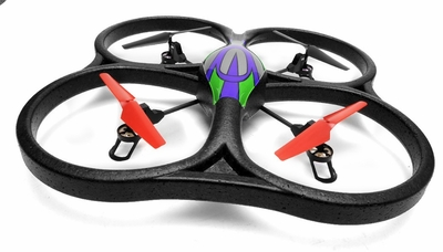 WL Toys V262 Cyclone UFO 4 Channel 6 Axis Gyro Quadcopter 2.4Ghz Ready to Fly (Green)
