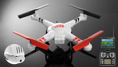 WL Toys V686G 5.8 FPV Headless Mode 4ch RC Quadcopter Drone with 2MP Camera w/Real-time Transmission/4GB Memory Card RC Remote Control Radio