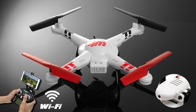 WL Toys V686K 6-Axis Gyro 2.4G 4CH WIFI FPV Real-time Videos Return (Android and IOS compatible device) UFO RC Quadcopter Drone with HD Camera + Headless Mode RC Remote Control Radio