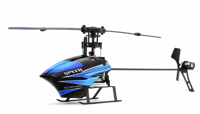 WL Toys V933 CCPM 6 Channel Flybarless Helicopter Ready to Fly 2.4ghz (Blue) RC Remote Control Radio