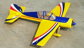 "Yak 54 3D Fuel/Electric 25 - 45.5"" Radio Remote Controlled Acrobatic RC Plane Kit (Yellow)"