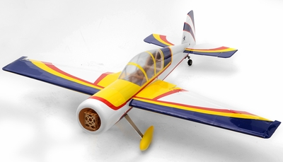 "Yak 54 3D Fuel/Electric 25 - 45.5"" Radio Remote Controlled Acrobatic RC Plane Kit (Yellow) RC Remote Control Radio"