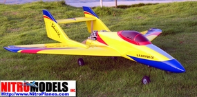 "Yellow USAF BOBCAT 50 - 51"" Nitro Gas Powered Radio Remote Control RC Airplane Jet Plane w/ RETRACT READY"