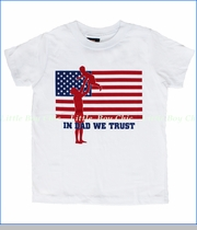 24-7 Daddyhood, In Dad We Trust Tee in White (c)
