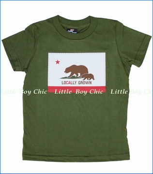 24-7 Daddyhood, Locally Grown Tee in Olive (c)