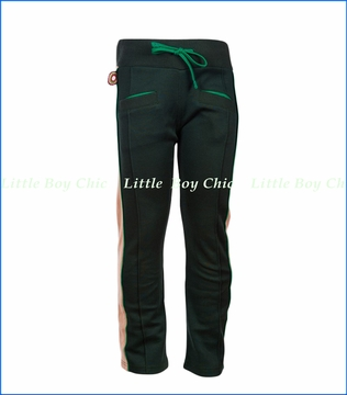 4 Funky Flavours, Bring Your Love Down Knit Retro Track Pants in Green