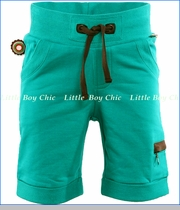 4 Funky Flavours, California French Terry Shorts in Teal (c)
