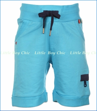 4 Funky Flavours, Shortline French Terry Shorts in Light Blue (c)