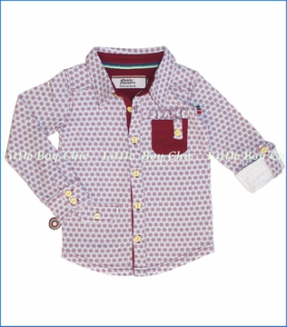 4 Funky Flavours, Sugar Man Buttoned Shirt in Wine (c)