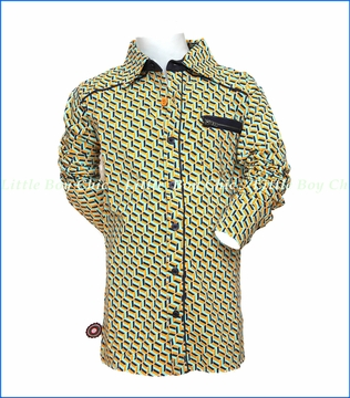 4 Funky Flavours, System Buttoned Shirt in Green