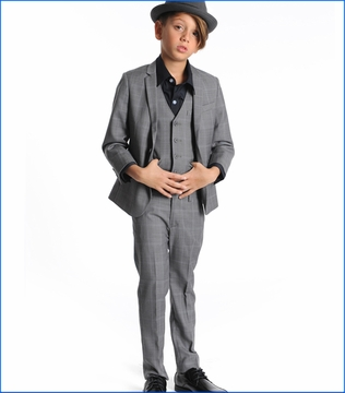 Appaman, 2-Piece Mod Suit in Greign Plaid