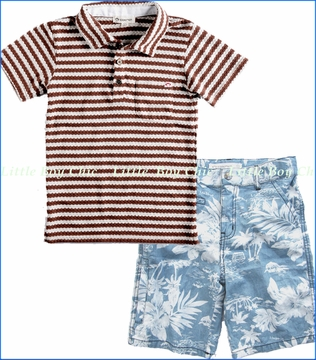 Appaman, Maison Polo with Hawaiian (Not) Board Shorts