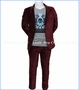 Appaman, Maroon Velvet 2-Piece Mod Suit in Red