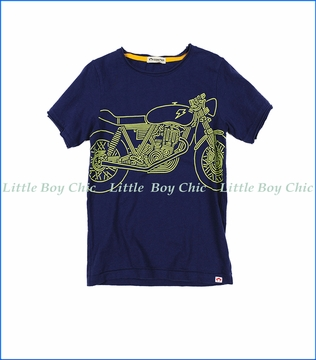 Appaman, Shazam Bike T-Shirt in Deep Cobalt