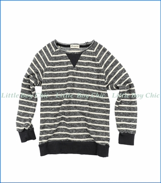 Appaman, Stripe Pullover Sweatshirt in Grey
