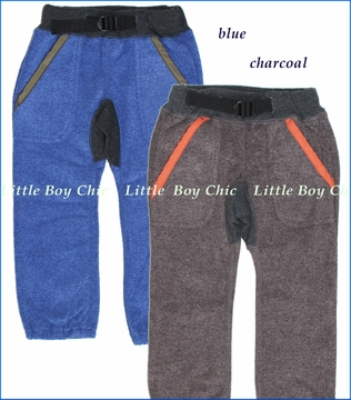 Bit'z Kids, Fleece Pants in Charcoal or Blue (c)