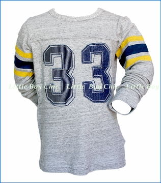 Bit'z Kids, LS Number Jersey T-Shirt in Grey