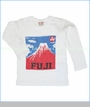 Bit'z Kids, Mount Fuji Tee in Off White