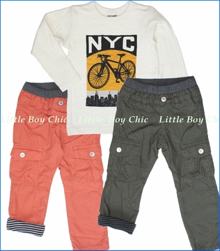 Bit'z Kids, NYC Tee with Jersey Lined Cargo Pants